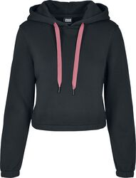 Ladies Contrast Drawstring Hoody