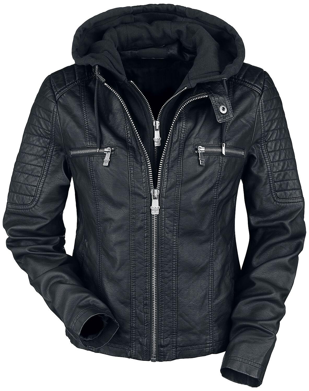 Jacken für Frauen - Black Premium by EMP Road Tripping Kunstlederjacke schwarz  - Onlineshop EMP