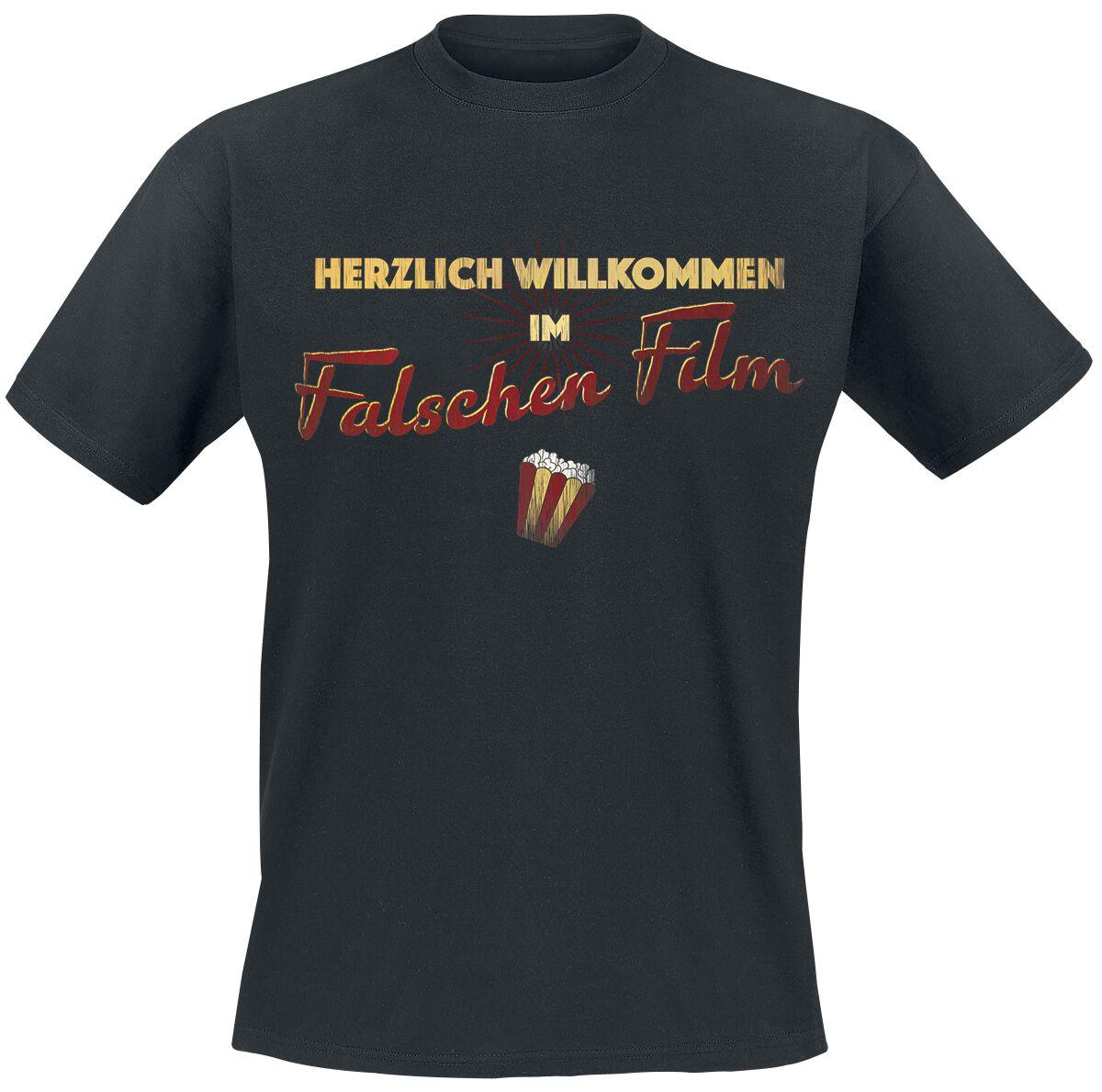 Falscher Film T-Shirt schwarz POD - BY083, schwarz