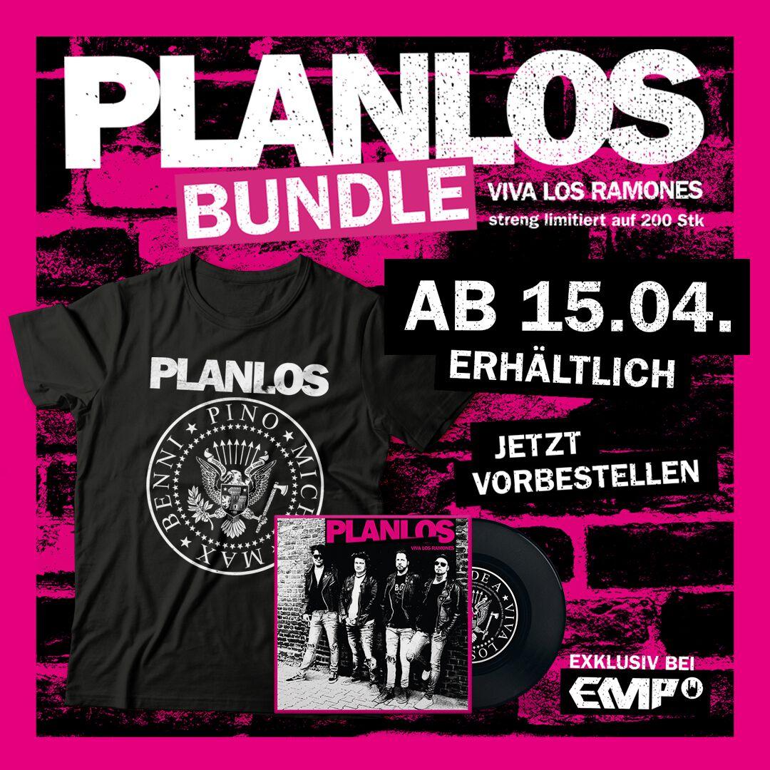 Image of Planlos Viva Los Ramones 7 inch-SINGLE & T-Shirt schwarz
