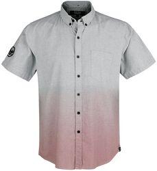 Blaues Kurzarmhemd mit Farbverlauf