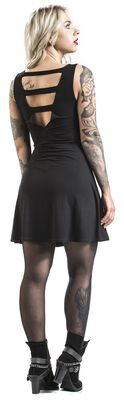 Kurzes Kleid mit Print und Cut-Outs Rock Rebel