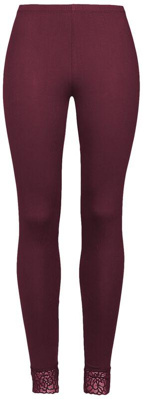 rote Leggings mit Spitzensaum Black Premium