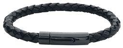 Black On Black Leather Bracelet