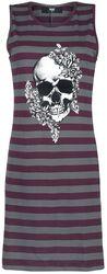 Gestreiftes Nachthemd mir Skull-Print