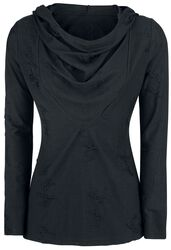 Hooded Destroyed Loose Sweater