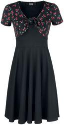 Schwarzes kurzes Kleid mit zartem Skull-Print
