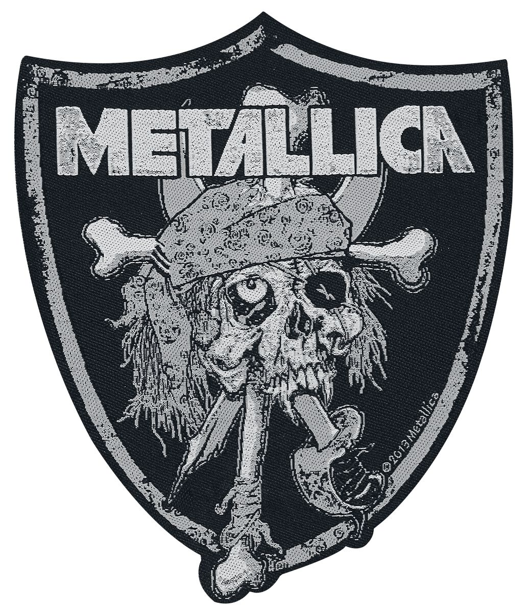 Metallica  Raiders Skull  Patch  schwarz/grau
