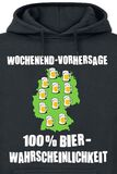 Wochenend-Vorhersage - 100% Bierwahrscheinlichkeit