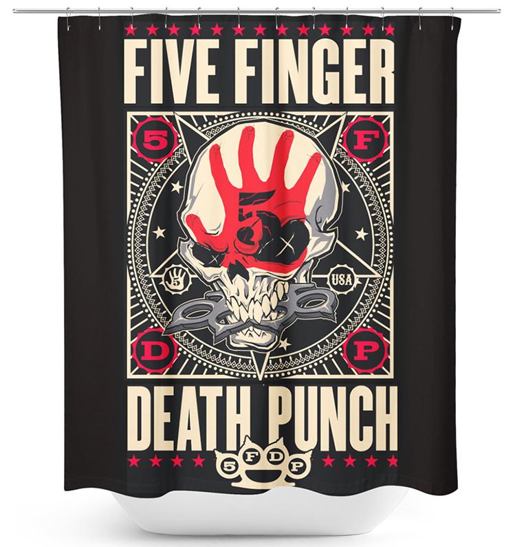 Five Finger Death Punch - Punchagram - Duschvorhang - multicolor