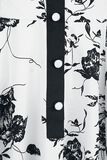 Tonal White Black Floral Day Dress