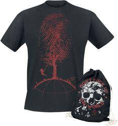 Don't Fuck Up The World - Schwarzes T-Shirt mit Print