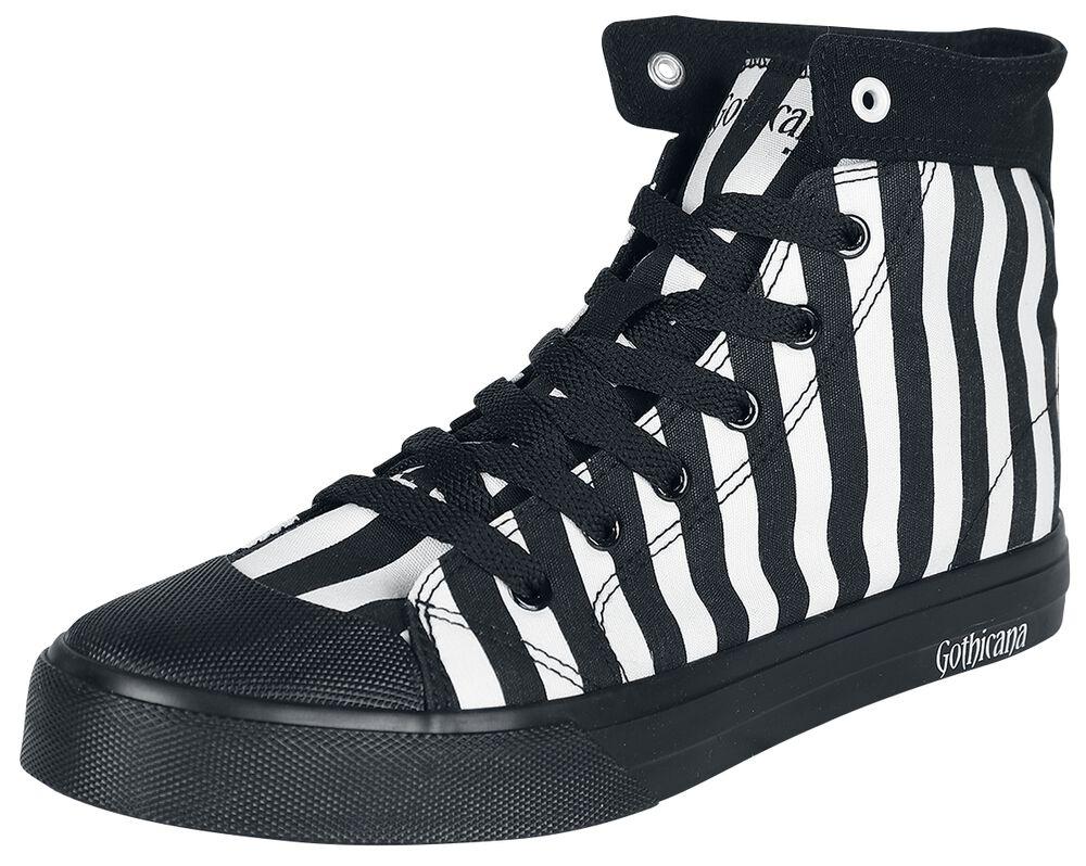 Schwarz/weiß gestreifte Sneaker