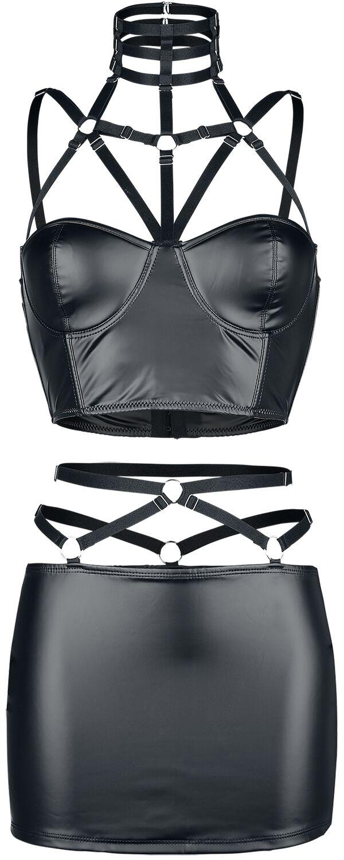 Saresia 2-teiliges Harness Set  Wäsche-Set  schwarz