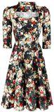 Thorny Rose Bloom 3/4 Sleeve Swing Dress