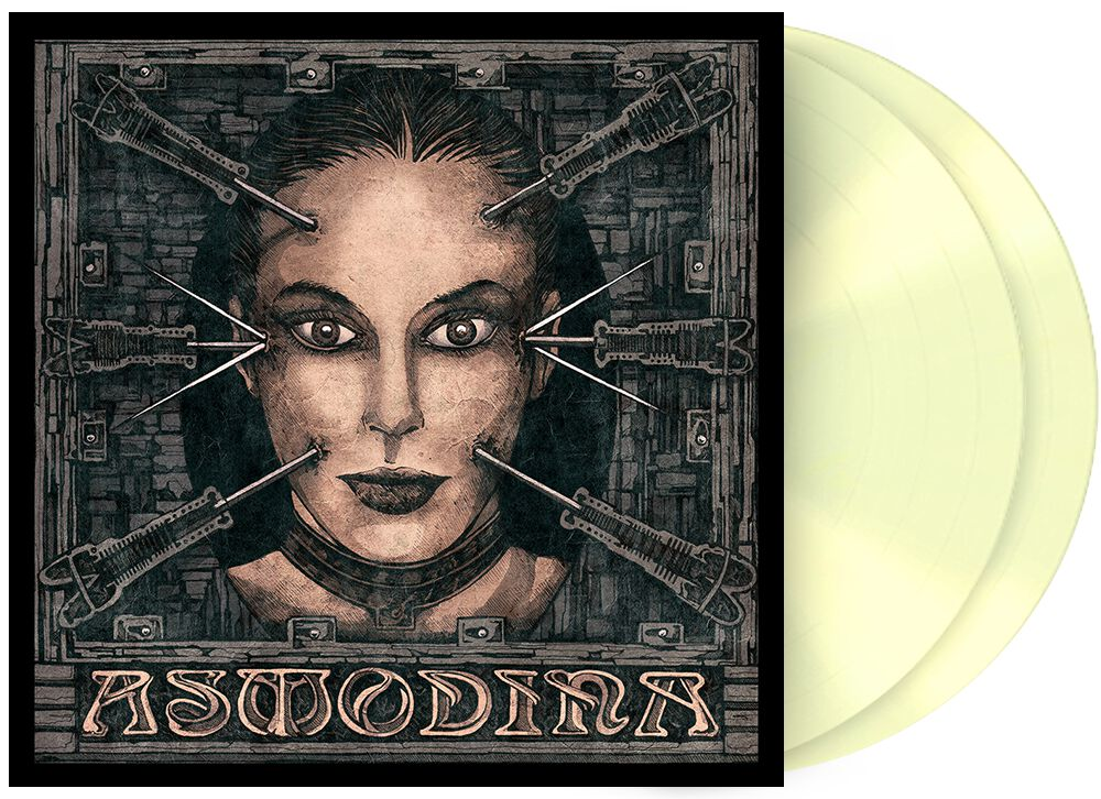 Image of Asmodina Inferno 2-LP glows in the dark