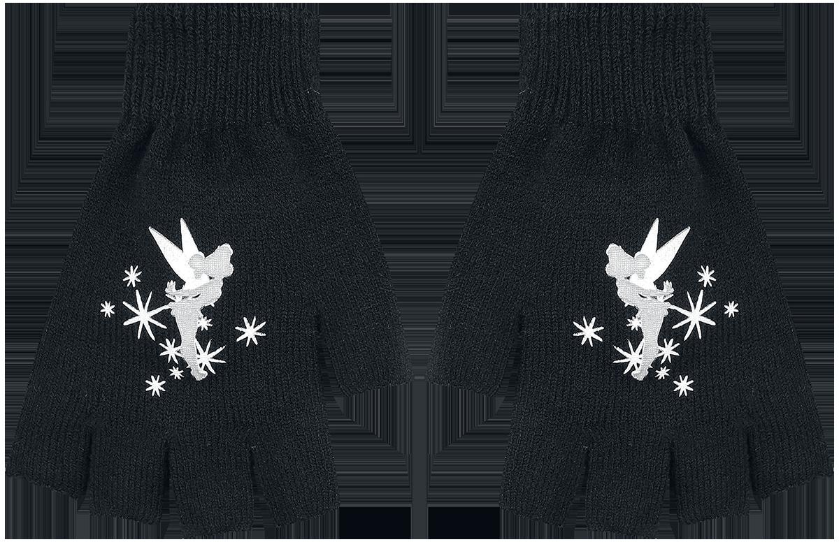 Image of Peter Pan Tinker Bell - Stars Fingerlose-Handschuhe schwarz/weiß