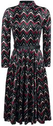 Chevron Velvet Swing Dress