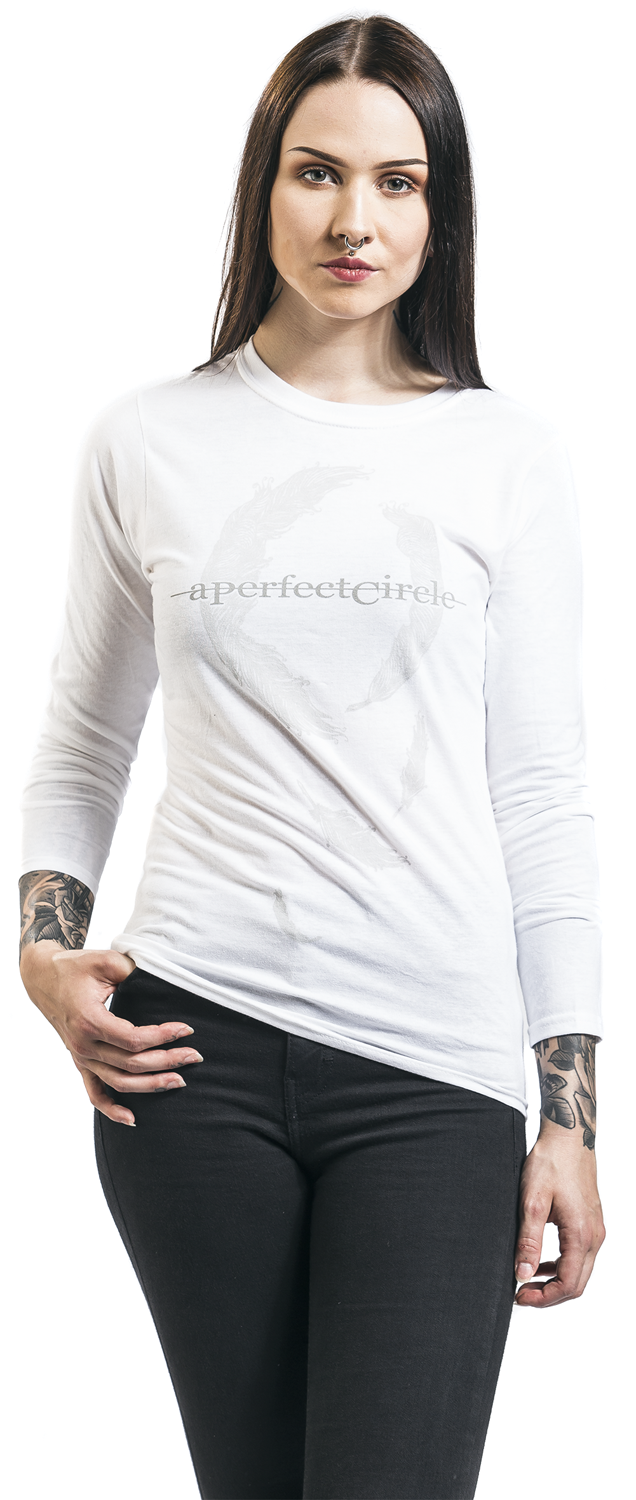 Image of A Perfect Circle Feathers Girl-Sweat-Shirt weiß