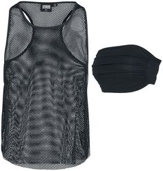2 in 1 Ladies Mesh Tank and Bandeau Top