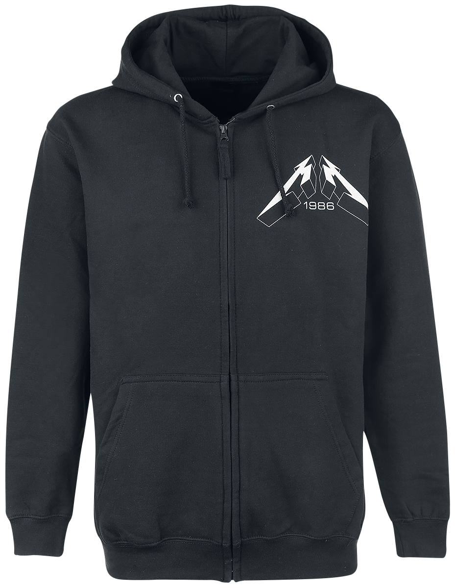 Metallica - Master Of Puppets Faded - Hooded zip - black image