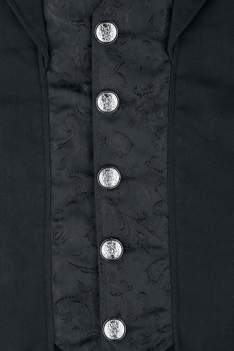 Image of Altana Industries Dark Brocade Coat Mantel schwarz
