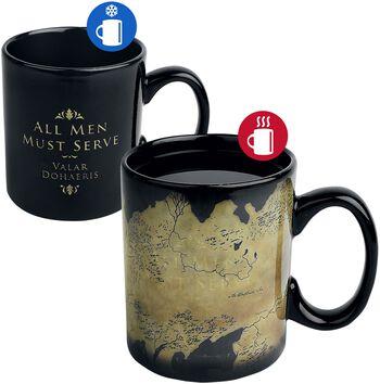 Westeros Map - Tasse mit Thermoeffekt