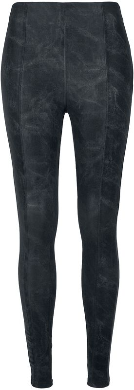 Ladies Washed Faux Leather Pants