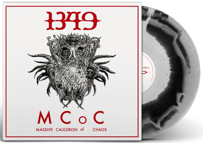 Image of 1349 Massive cauldron of chaos LP schwarz/weiß