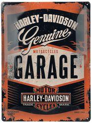 Harley-Davidson Garage - Blechschild