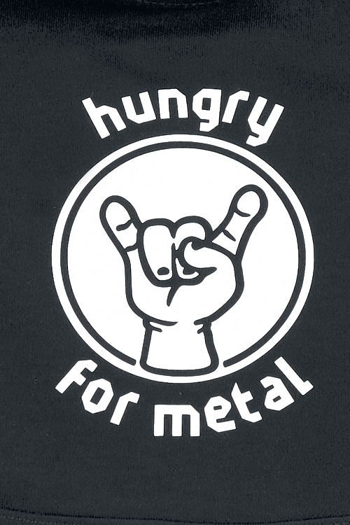 Image of Metal-Kids Hungry For Metal Baby Lätzchen schwarz