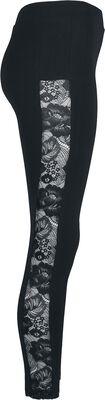 Ladies Lace Striped Leggings