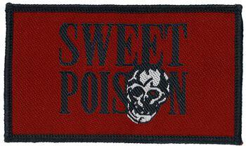 roter Patch -Sweet Poison- Schriftzug