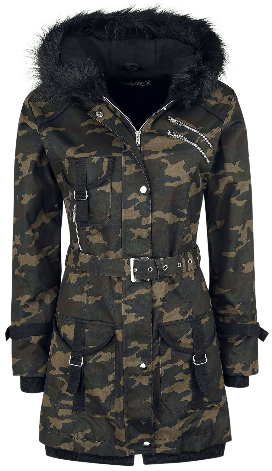 Gothicana by EMP Multi Pocket Jacket  Winterjacke  camouflage