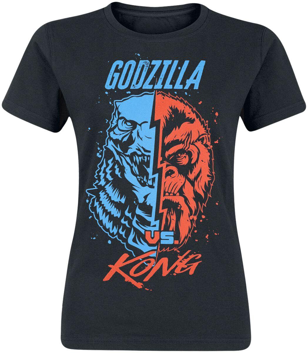 Godzilla Godzilla & King Kong T-Shirt schwarz Indie2653