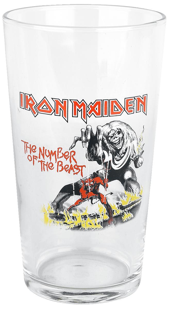Iron Maiden - Number Of The Beast - Pint-Glas - klar