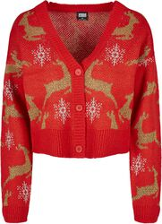 Ladies Short Oversized Christmas Cardigan