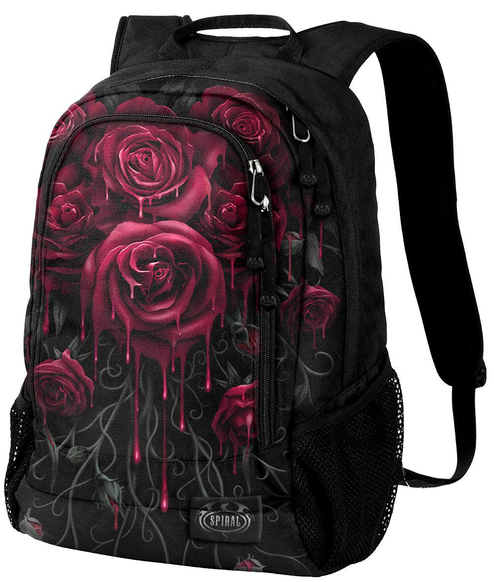 Spiral Blood Rose Rucksack schwarz K018A308
