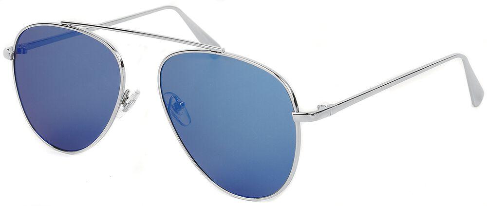 Pilotenbrille Shiny Silver Ice Blue