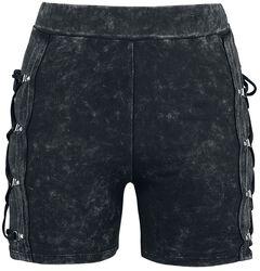 Schwarze Shorts mit Waschung