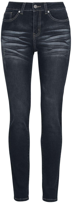 RED by EMP Skarlett - Dunkelblaue Jeans mit Waschung Jeans dunkelblau M404430