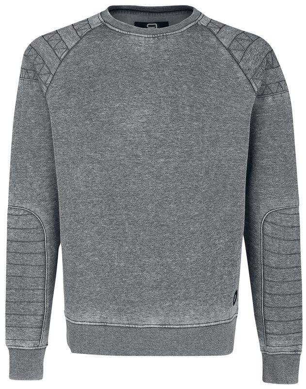 Meliertes Sweatshirt mit Ziernähten
