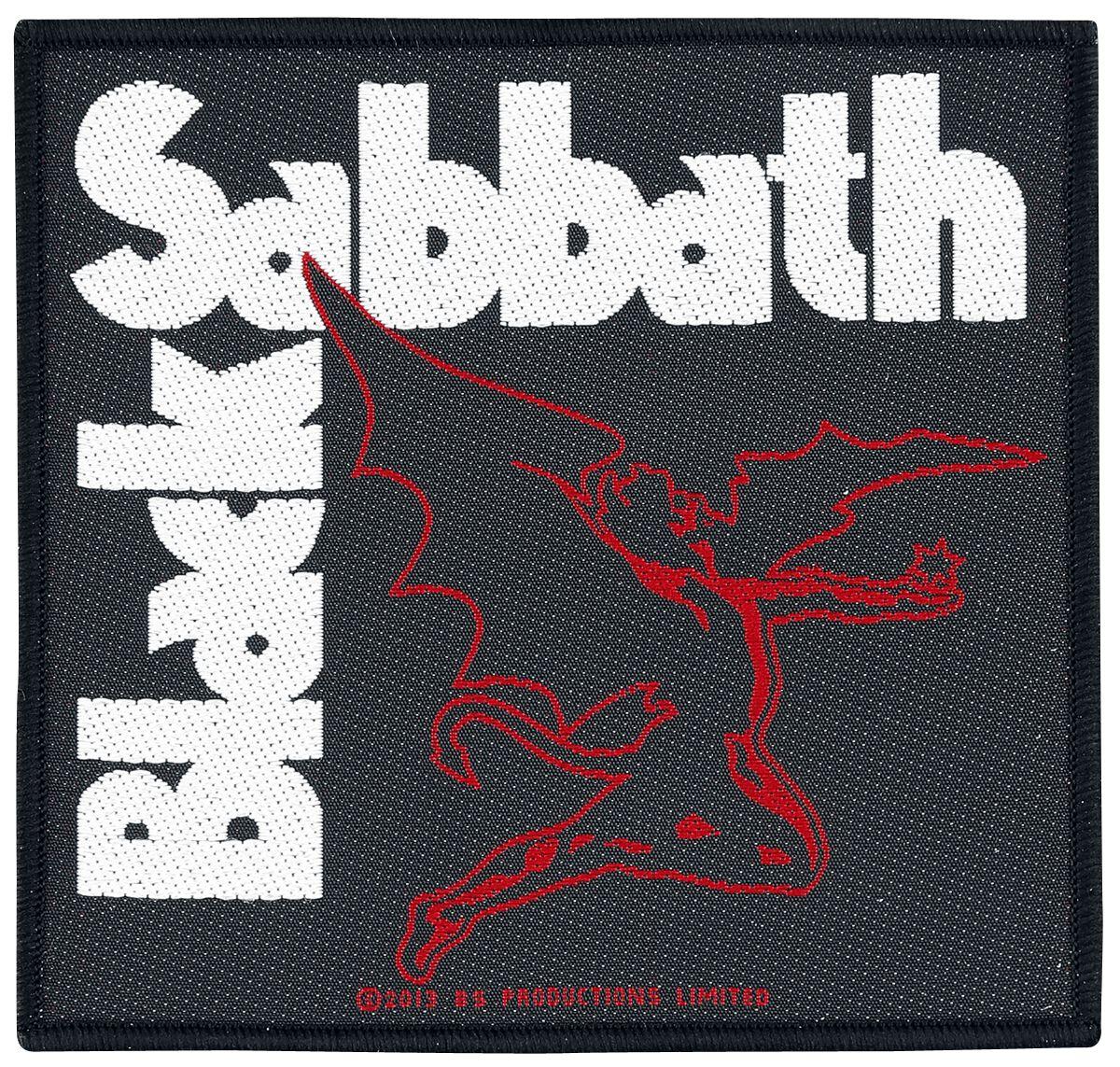Black Sabbath Creature  Patch  schwarz/weiß/rot