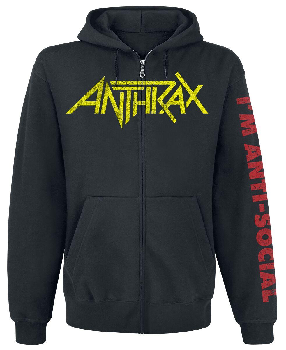 Image of Anthrax Anti-Social Kapuzenjacke schwarz