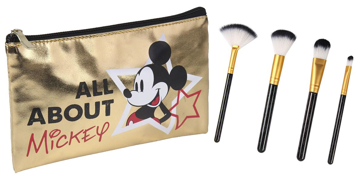 Mickey Mouse Mickey Makeup brush gold coloured | Onesize