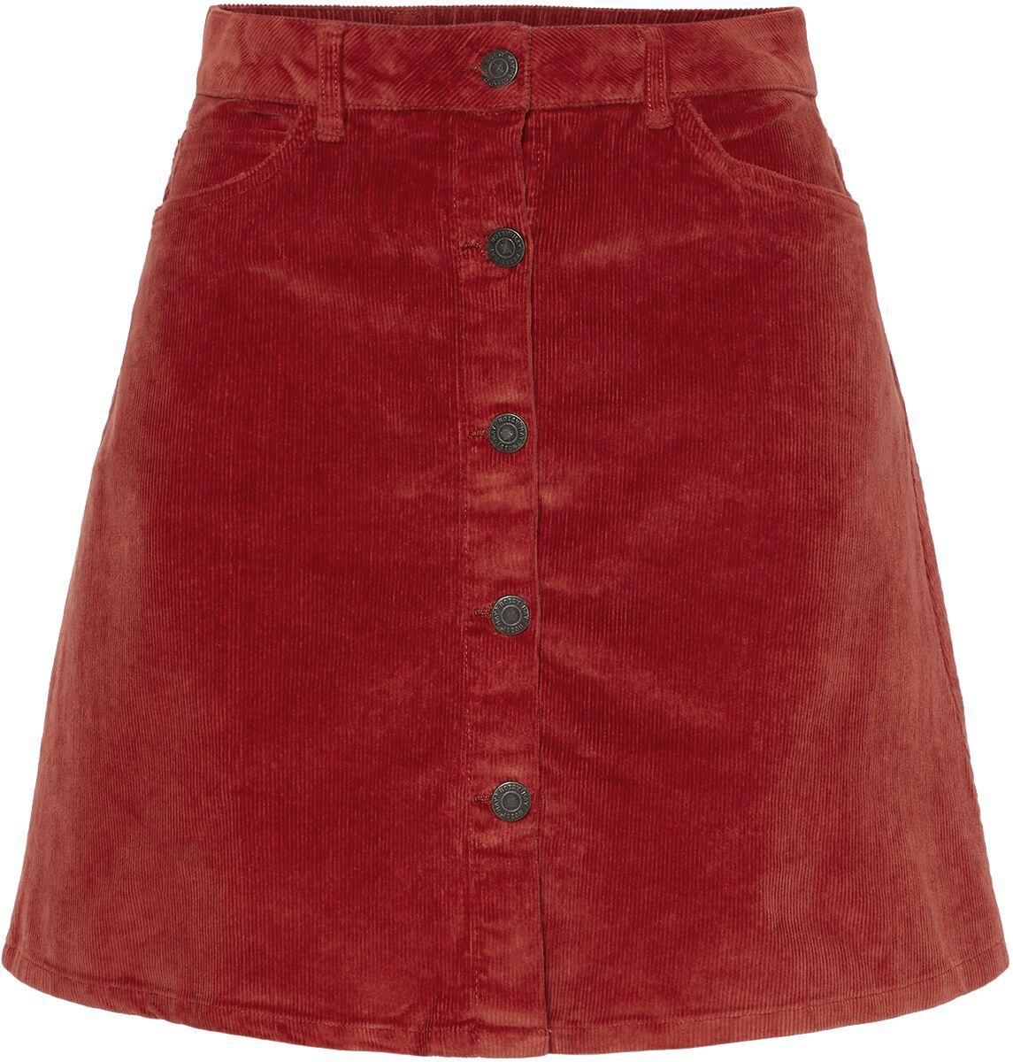 Roecke - Noisy May Sunny Short Curduroy Skirt Kurzer Rock rost  - Onlineshop EMP