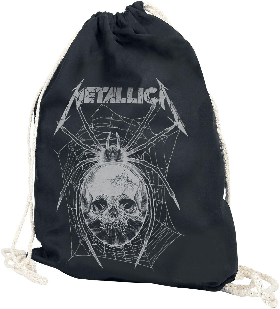 Sporttaschen - Metallica Grey Spider Turnbeutel schwarz  - Onlineshop EMP