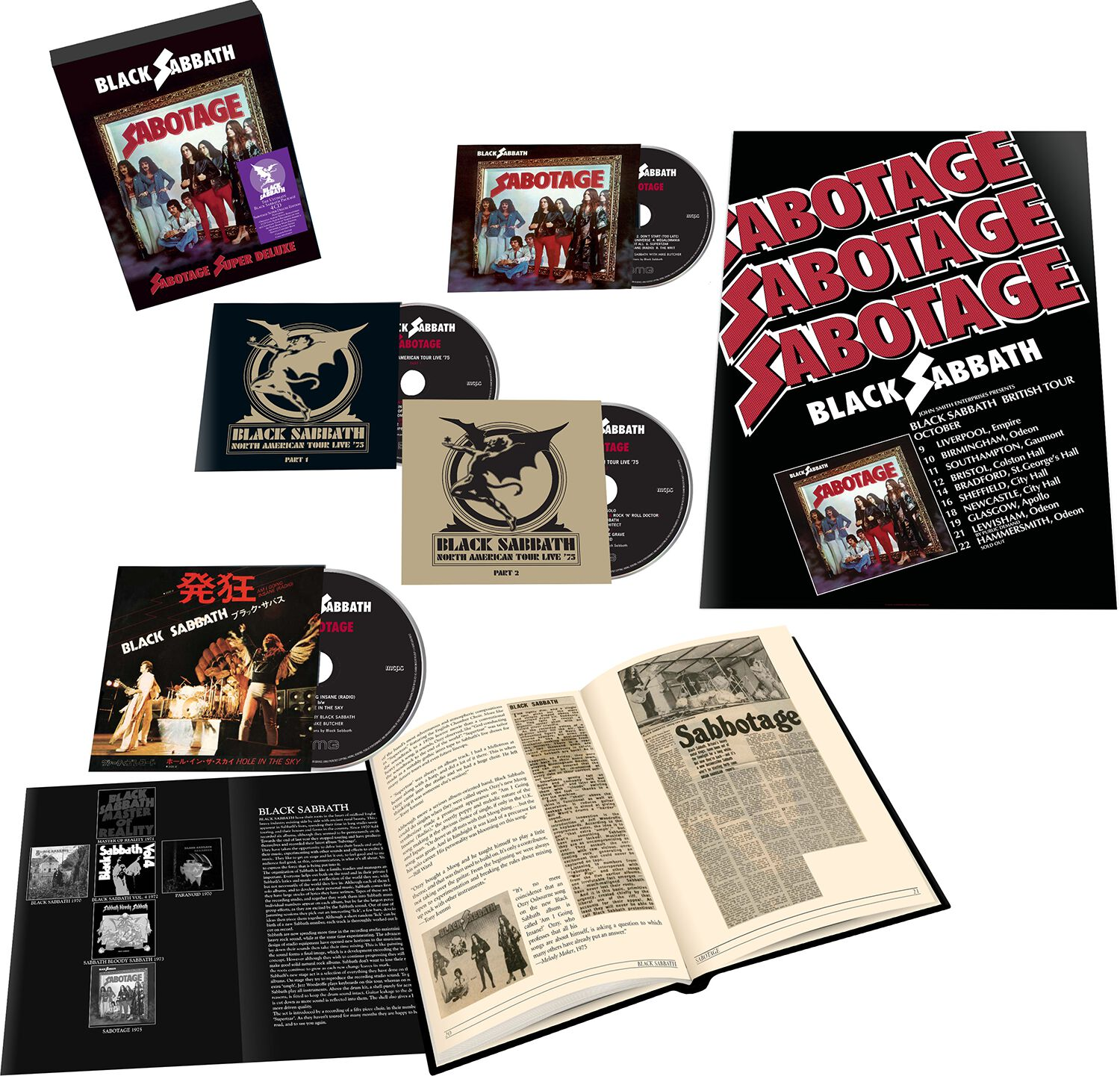 Image of Black Sabbath Sabotage 4-CD Standard