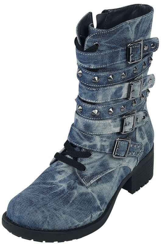 Stiefel in Jeansoptik mit Nieten Rock Rebel