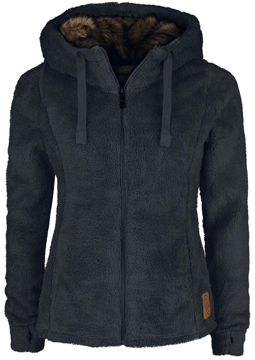 Jacken für Frauen - Sublevel Teddy Fleece Jacket Übergangsjacke schwarz  - Onlineshop EMP